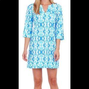 NWT Jude Connally Lexi Geo Fleur Seafoam Dress